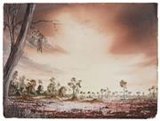 Sale 8509 - Lot 2069 - John Dynon (1954 - ) - Along Pine Creek via Broken Hill, 1982 30 x 40.5cm