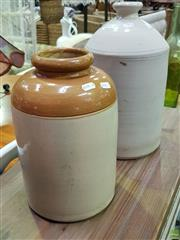 Sale 8629 - Lot 1055 - Two Ceramic Demijohns One Marked Fowler