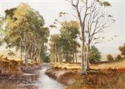 Sale 8642 - Lot 597 - Irvine Campbell (1939 - ) - Sunlit Coxs River, Megalong Valley 90 x 120cm