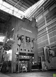 Sale 8721A - Lot 66 - Gordon Nobbs - Hydraulic Press at Chrysler Plant, Adelaide 1964 22 x 16cm