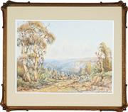Sale 8828 - Lot 2018 - Lionel David - Road to Narrow Neck, Katoomba, Blue Mountains, NSW 33 x 45 cm