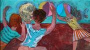 Sale 8947 - Lot 517 - Louis Kahan (1905 - 2002) - Children Playing, 1968 31 x 55 cm (frame: 63 x 85 x 4 cm)