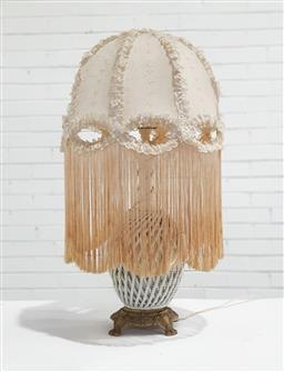 Sale 9146 - Lot 1043 - Ceramic & Brass Table Lamp