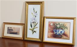 Sale 9155H - Lot 77 - A group of three prints including one after Wendy Wooden, largest frame size 61x29cm