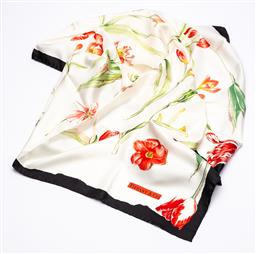 Sale 9170H - Lot 81 - A Tiffany & Co. silk scarf with tulip design in original box