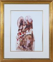 Sale 8550H - Lot 45 - Sidney Nolan - Himmelfarb, Concentration Camp, 1961 63 x 52cm
