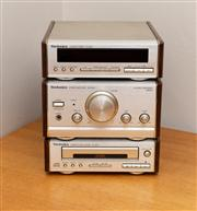 Sale 8741A - Lot 99 - A Technics CD player, stereo receiver and tuner