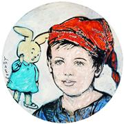 Sale 9021 - Lot 536 - David Bromley (1960 - ) - Boy & Bunny 100 cm diameter