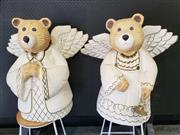 Sale 9026 - Lot 1065 - Pair Of Bear Form Angels (H72cm)