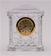 Sale 9057 - Lot 100 - Waterford Crystal desk clock (H12cm)