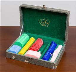 Sale 9140H - Lot 59 - A cased set of vintage poker chips.