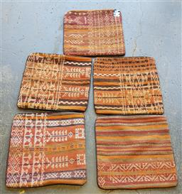 Sale 9154 - Lot 1075 - Hand-knotted pure wool Persian kilim cushion covers ( 40 x 40cm)