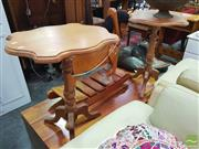 Sale 8447 - Lot 1086 - Pair of Shield Top Side Tables