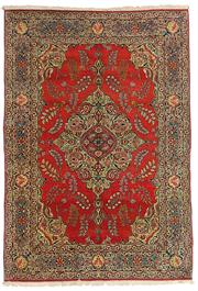 Sale 8536A - Lot 50 - A Fine Antique Tabriz Persian Wool & Silk Carpet, 1940 Iran 200cm x 138cm RRP $10,000.00