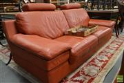 Sale 8507 - Lot 1082 - Tangerine Leather Lounge