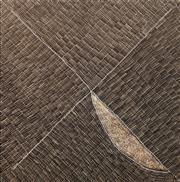 Sale 8642 - Lot 530 - Kathleen Petyarre (c1940 - ) - Mountain Devil Lizard Dreaming 138 x 128cm