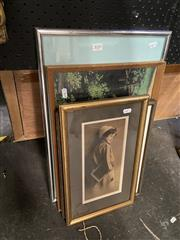 Sale 8895 - Lot 2020 - Group of 4 Various Prints, each framed