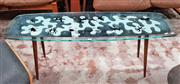 Sale 8930 - Lot 1057 - Atomic Age Glass Top Coffee Table