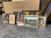 Sale 9072 - Lot 2080 - A Group of seven paintings by G. Baker