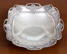 Sale 9140H - Lot 64 - A 900 silver dish with rose decorations embossed to border, Width 17.5cm, Weight 178g