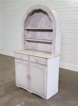 Sale 9191 - Lot 1042 - Painted buffet & hutch (h170 x w91 x d42cm)