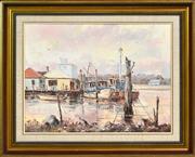 Sale 8323A - Lot 32 - John Hingerty (1930 - ) - Tuncurry Waterfront, 1982 44.5 x 59.5cm