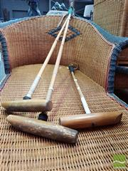 Sale 8469 - Lot 1054 - Three polocrosse mallets