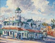 Sale 8526 - Lot 593 - David Badcock (1960 - ) - Grand Hotel, Mt Morgan, Rockhampton 39 x 49.5cm