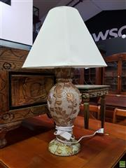 Sale 8570 - Lot 1023 - Pair of Ceramic Table Lamps (58cm)