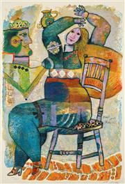 Sale 8658A - Lot 5015 - Theo Tobiasse (1927 - 2012) - David et Bethsabée 105 x 73cm