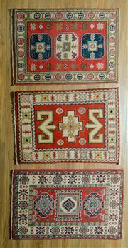 Sale 8680C - Lot 45 - 3 x Afghan Kazak 90cm x 60cm