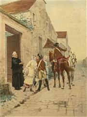 Sale 8696A - Lot 5038 - Charles Edouart Delort (1841- 1885) - Tendre Adieux 52.5 x 40cm