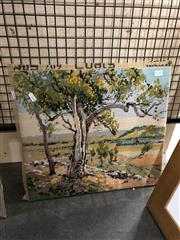 Sale 8789 - Lot 2135 - Canberra in 1912, Tapestry, 40x44cm