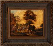Sale 8804A - Lot 96 - After D. Teniers - The Village Downs 25cm x 25cm