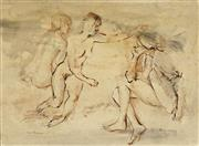 Sale 8838A - Lot 5009 - Louis Kahan (1905 - 2002) - Three Figures 55 x 74cm