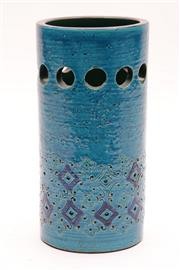 Sale 9018 - Lot 1 - Bitossi cylindrical flower vase (H:20cm)