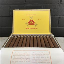 Sale 9089W - Lot 5 - Montecristo No.2 Cuban Cigars - box of 25, stamped November 2016
