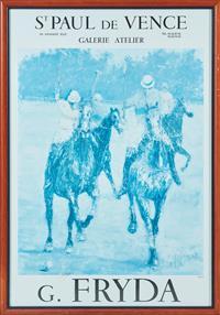 Sale 9090H - Lot 25 - A St Paul de Vence G Fryda poster. 66cm x 47cm