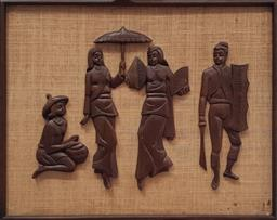 Sale 9113 - Lot 2030 - Vintage figural wall relief (h:69 x d:52cm)