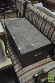 Sale 8398 - Lot 1072 - Metal Bound Trunk x2