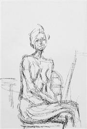 Sale 8492A - Lot 5049 - Alberto Giacometti (1901 - 1966) - Figure 36.5 x 24.5cm