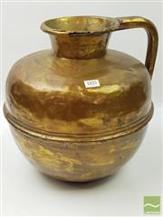 Sale 8439F - Lot 1833 - Large Brass Jug (H 38cm x W 34cm)
