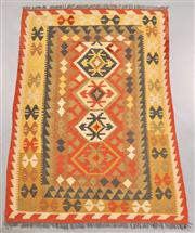 Sale 8438K - Lot 38 - Summer Afghan Tribal Kilim Rug | 197x140cm, Pure Wool, Finely handwoven in Northern Afghanistan using high quality local wool. Vibra...