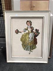 Sale 8789 - Lot 2126 - Flower Seller, Tapestry, 44x34cm