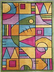 Sale 8971 - Lot 1086 - A Multi-Coloured Geometric Rug (237 x 160cm)