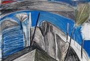 Sale 9004 - Lot 2001 - Idris Murphy (1949 - ) - Blue & Grey, 1987 61 x 90 cm (sheetsize)