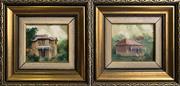 Sale 9041 - Lot 2017 - Diana Lane Carcoar; Hunters Hill oils on board 20 x 21cm (each) signed lower right -