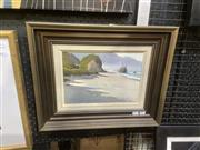 Sale 9091 - Lot 2026 - Brent Trolle (2 works) Coast Rd, Nth of Punakaiki; Lewis Pass, New Zealand oil on board, 38 x 47cm; 40 x 64cm (frames) signed