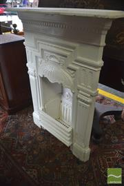 Sale 8335 - Lot 1085 - Small Late Victorian Cast Iron Fireplace, with fluted pilasters & Rd No 2893 to back, Circa 1884/1885
