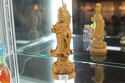 Sale 8348 - Lot 34 - Sandalwood Carved Figure of Guanyin